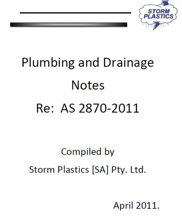 Plumbing and Drainage Notes 2011