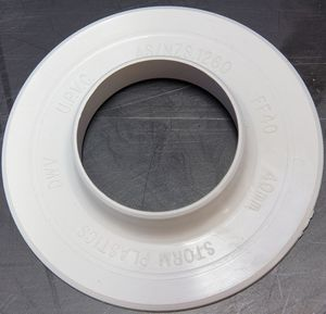 PVC Floor Flanges. Available In All The Regular DWV Sizes